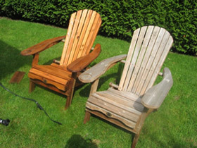 Before and after with Cedar Wash