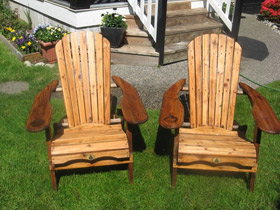 Cedar Wash-Finished Chairs