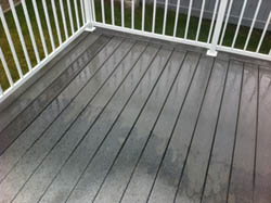Spray & Clean Composite Deck Cleaner - Testimonial - During