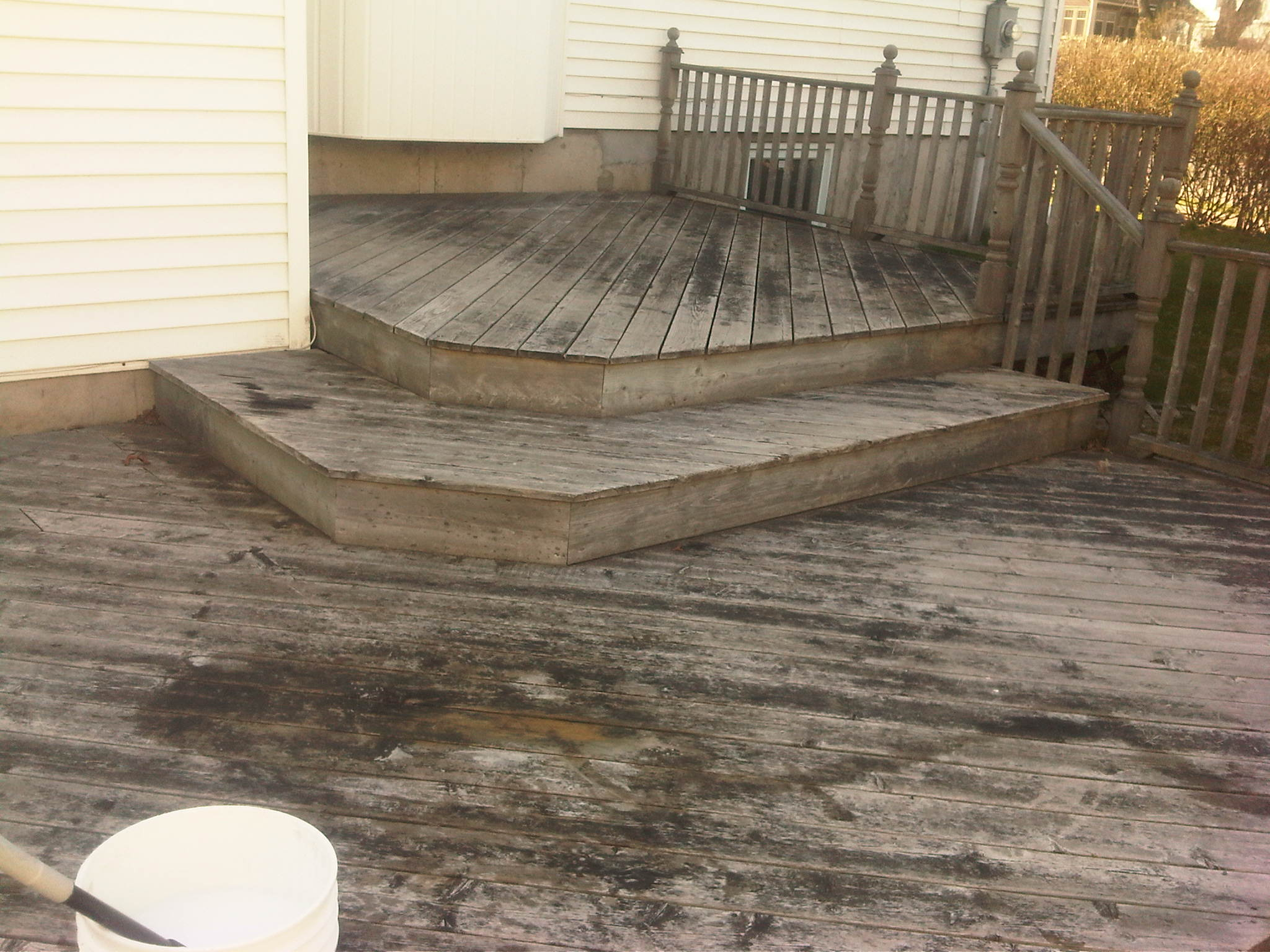 Deck Wash - Before