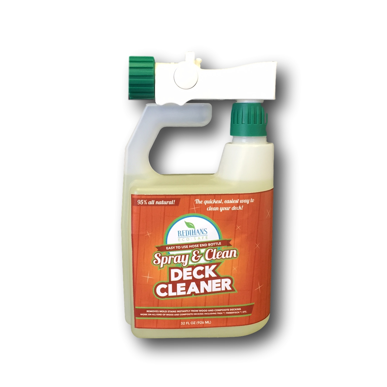 Redihans Eco-Safe Spray & Clean Deck Cleaner with Hose End Bottle