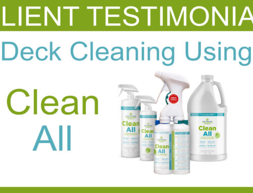 Deck Cleaning Testimonial Using CLEAN ALL